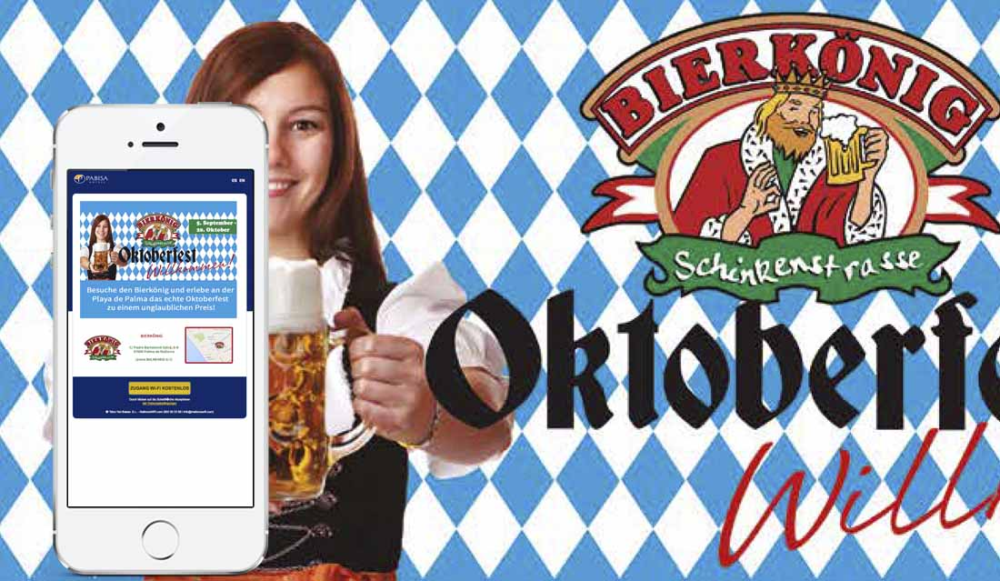 Landing Page Oktoberfest Bierkönig